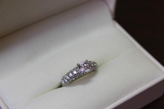 プラチナ1カラットダイヤモンドリング