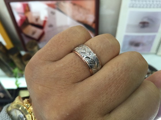 手彫りの指輪