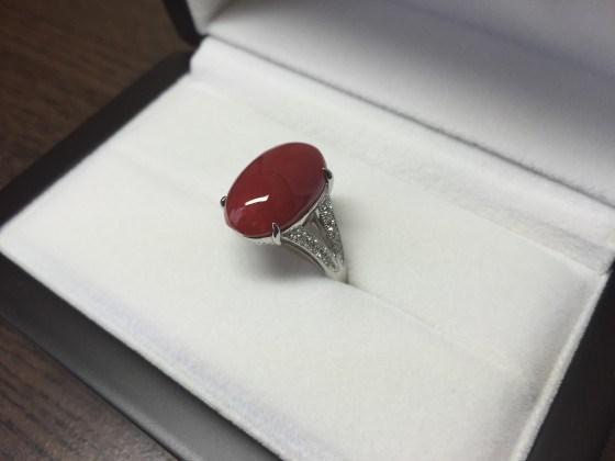 血赤珊瑚の指輪