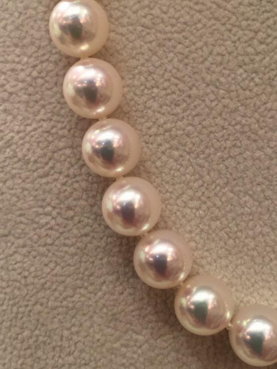 オールノット加工の真珠