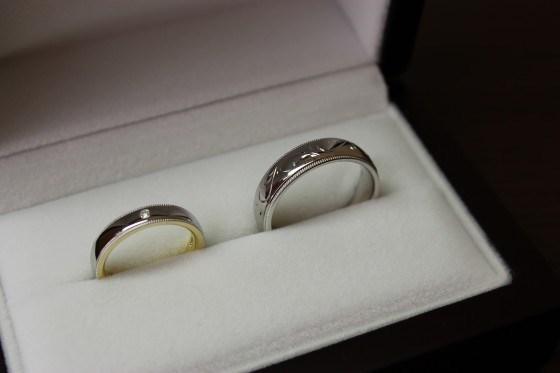 鍛造造りの結婚指輪