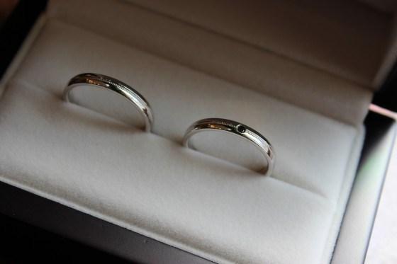 細身の鍛造結婚指輪