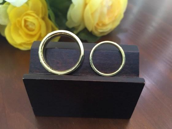 結婚指輪の幅(厚み)もしっかり