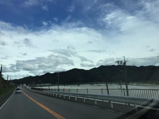台風16号後の北川