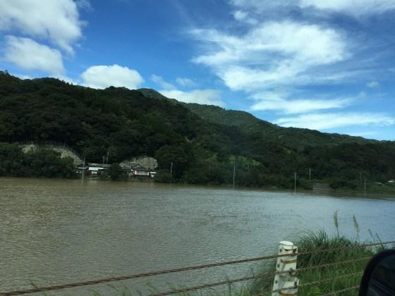 台風16号後の田畑