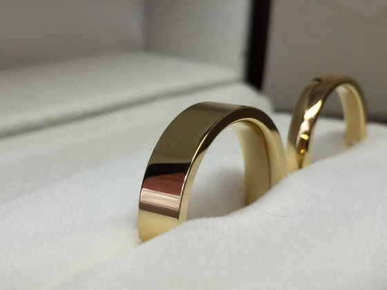 ゴールド 鍛造指輪 大分