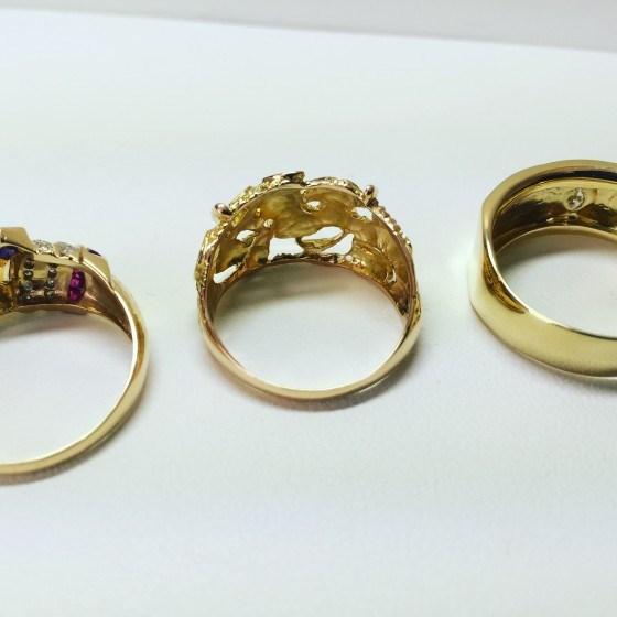 指輪の磨き