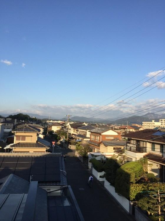 延岡の秋空