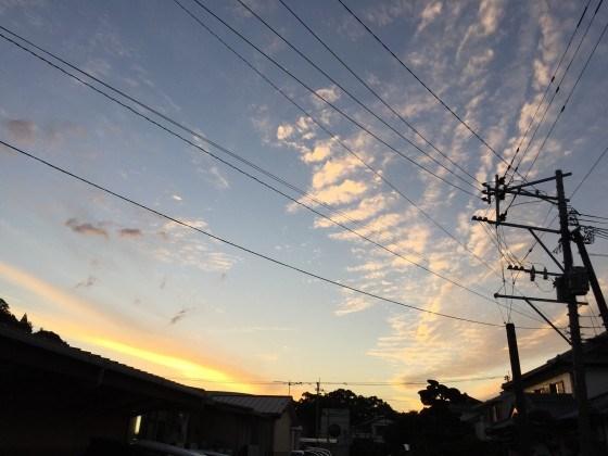 延岡の夕暮れ