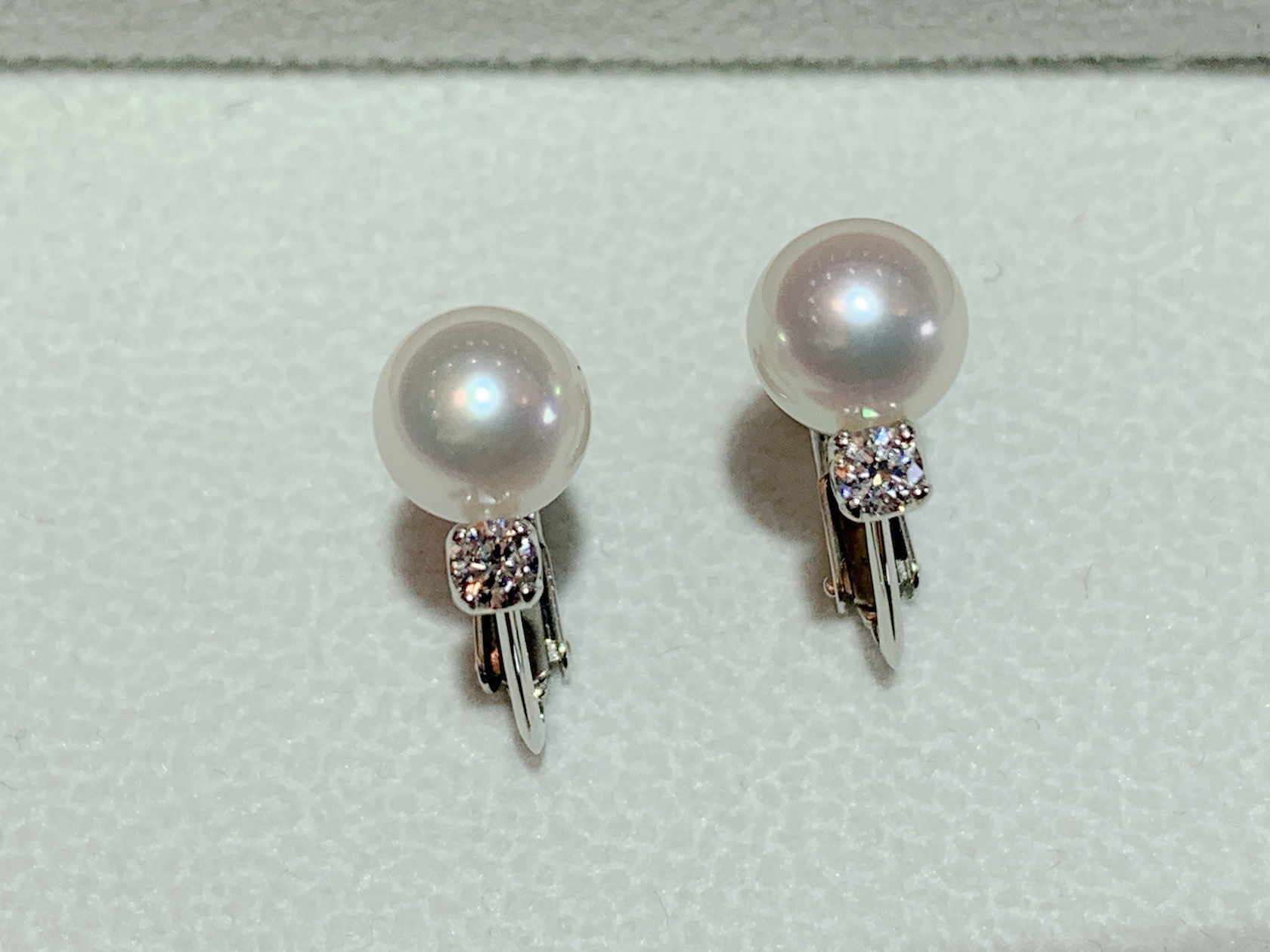 真珠イヤリング作りました