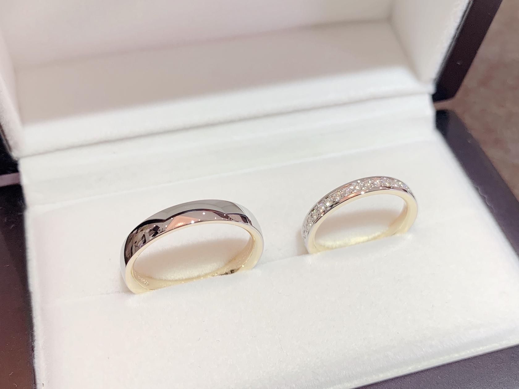 大分 鍛造結婚指輪